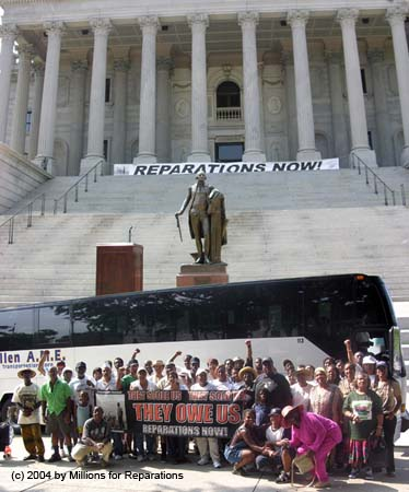 Rallying in front of South Carolina Capitol for Reparations!